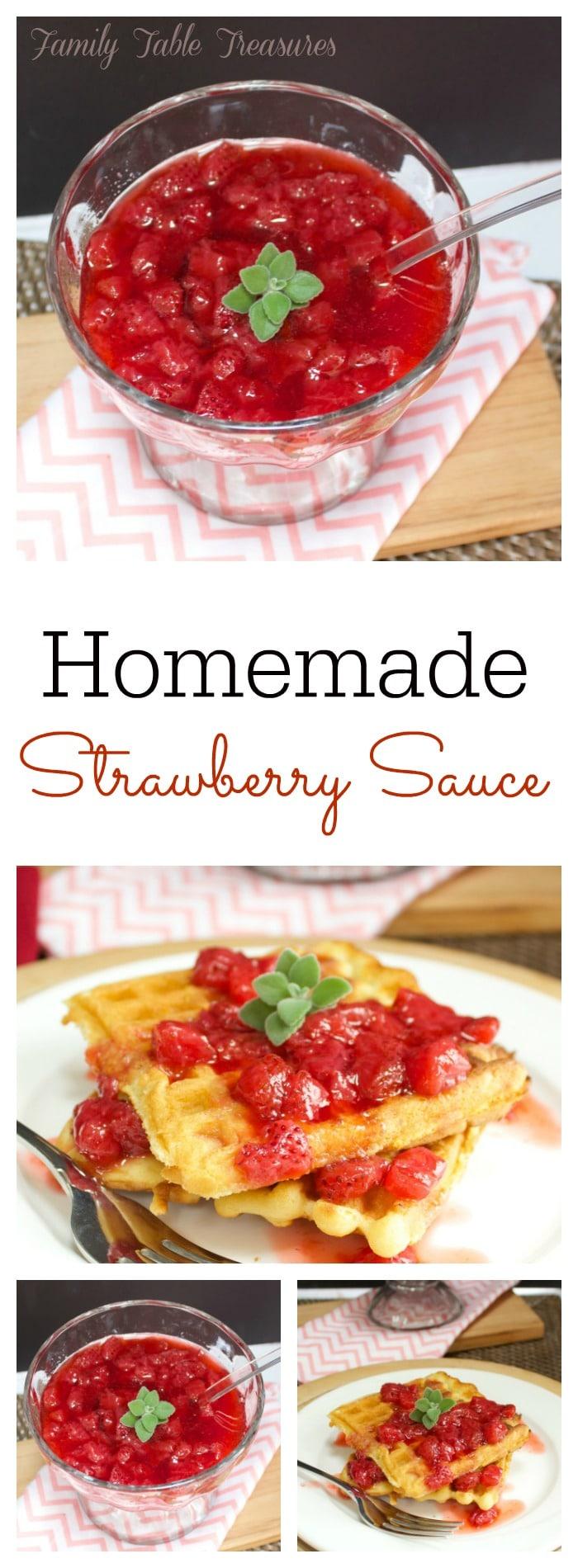Homemade Strawberry Sauce