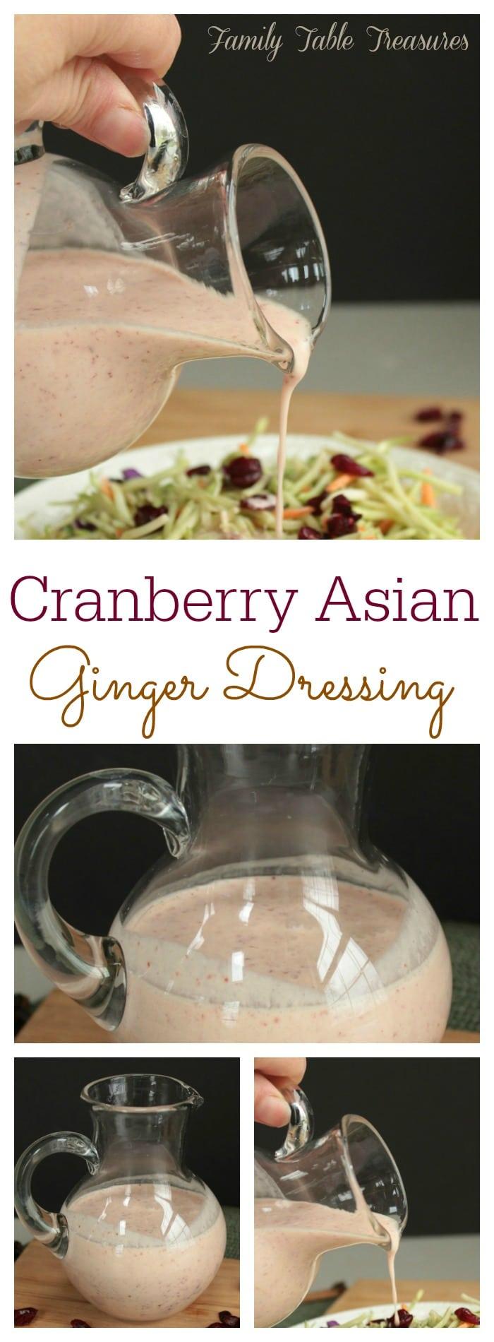 {Cranberry} Asian Ginger Dressing