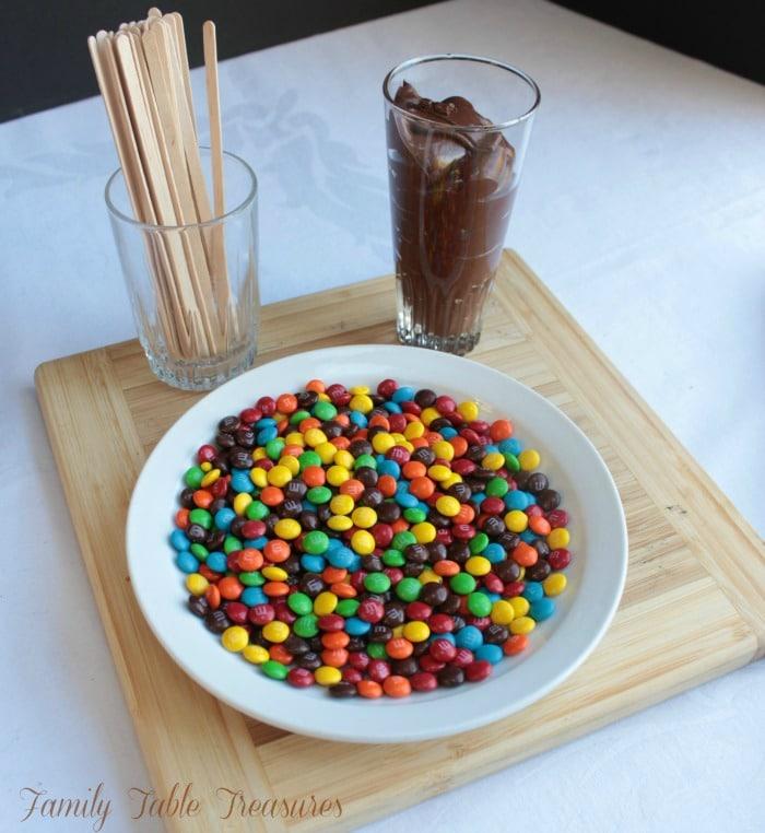 Gravity Defying M&M Cupcakes