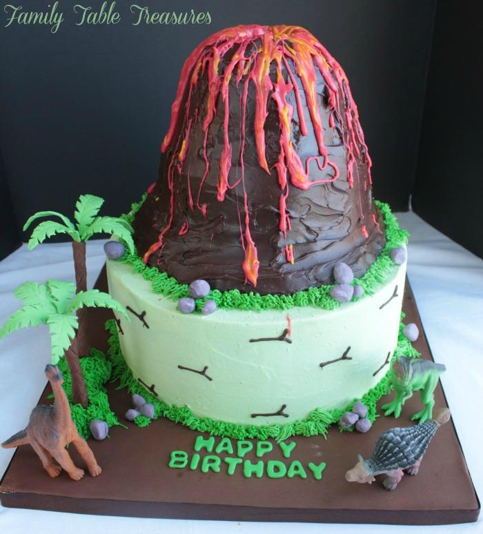 Tremendous Volcano Cake Family Table Treasures Personalised Birthday Cards Veneteletsinfo