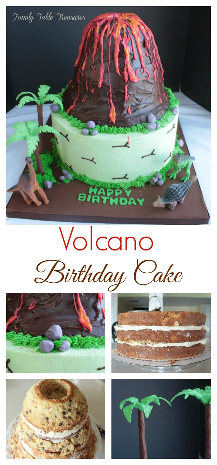Volcano Cake Family Table Treasures