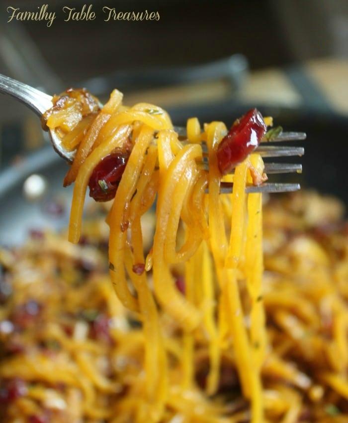 Autumn Harvest Butternut Squash Noodle Recipe