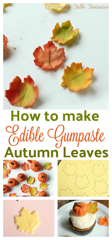 How to make Autumn Gumpaste Leaves