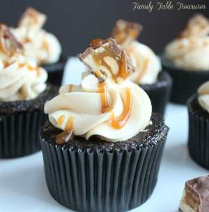 Snickers Cupcakes with Salted Caramel Buttercream