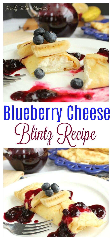 Blueberry Cheese Blintz Recipe