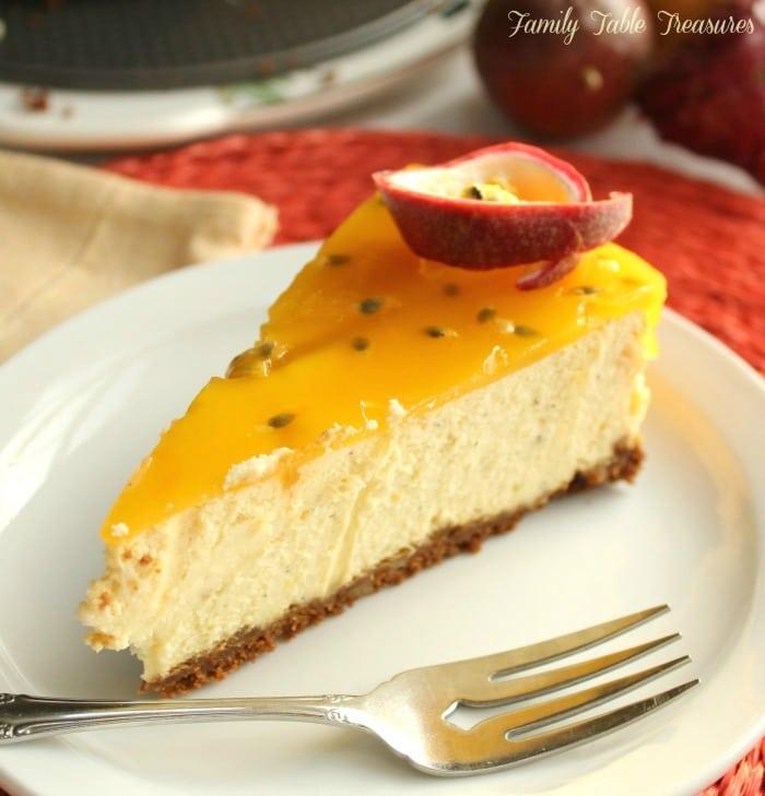 Passion Fruit & Mango Cheesecake