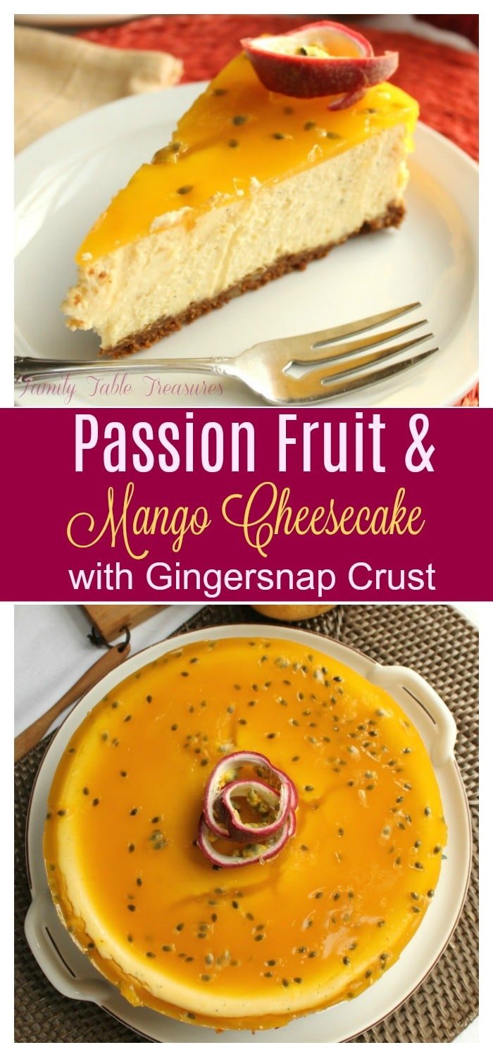 Passion Fruit & Mango Cheesecake