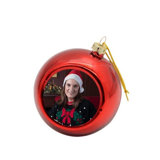 Christmas Bauble Red Custom Printed
