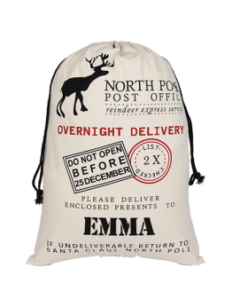 North Pole Overnight Delivery Santa Sack