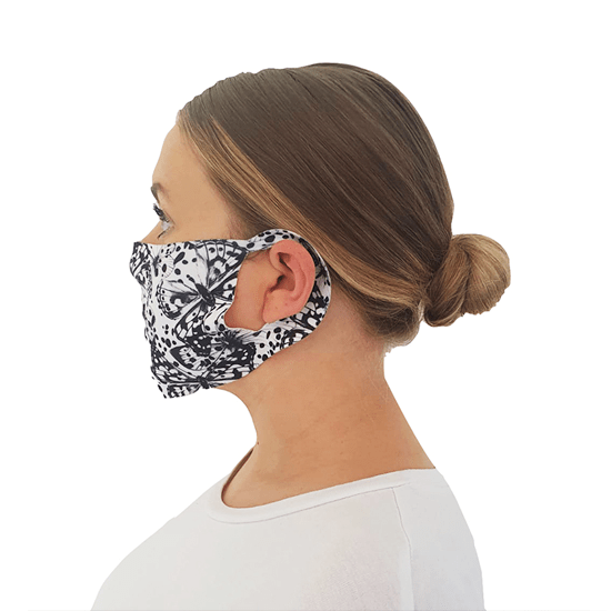 Butterfly Print Face Covering