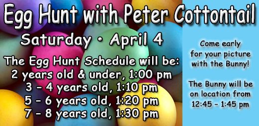 Egg Hunt with Peter Cottontail