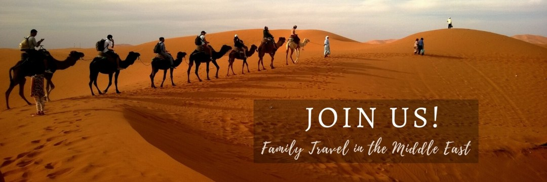 Camel train - how to join the community at Family Travel in the Middle East