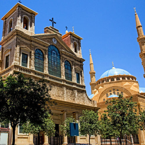 Downtown Beirut St Georges Maronite Cathedral and Mohammad al-Amin Mosque | Family Travel in the Middle East