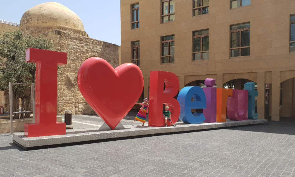 I love Beirut at Beirut Souks | Family Travel in the Middle East