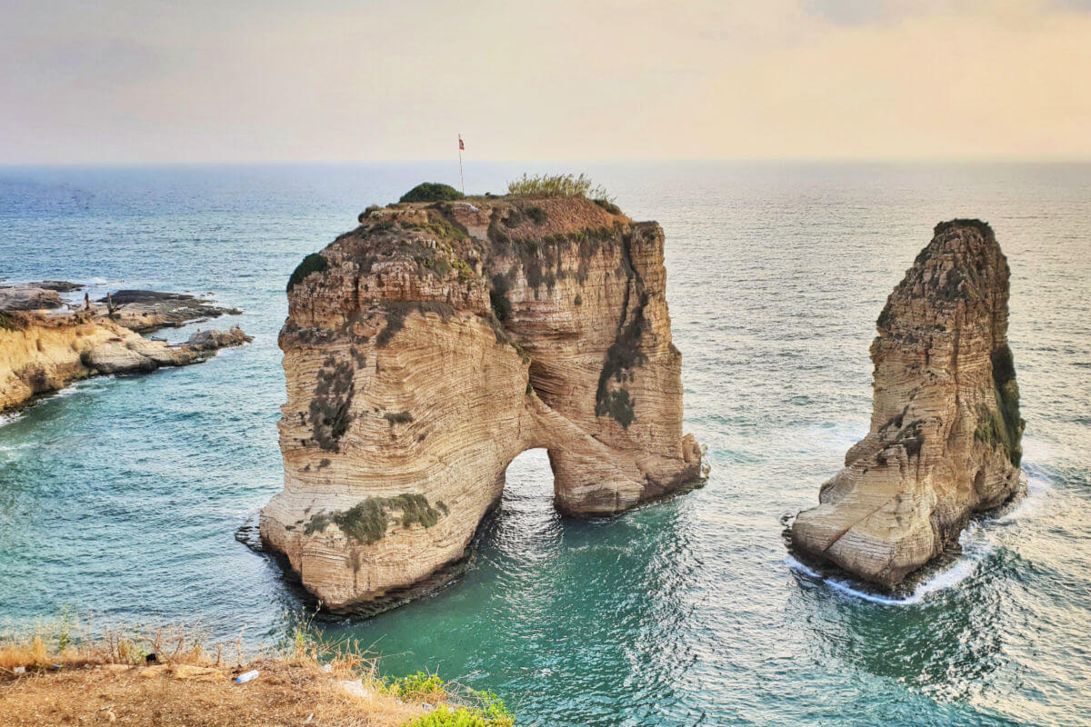 Raouche Rocks - Pigeon Rocks in Beirut | Family Travel in the Middle East