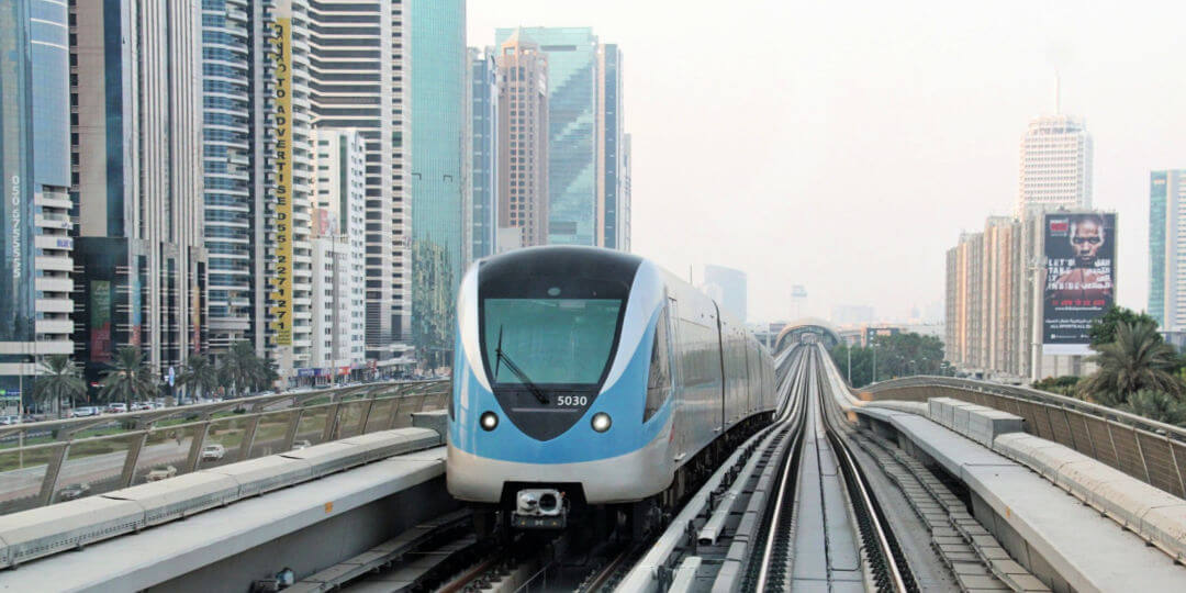 Dubai Metro transport in the UAE