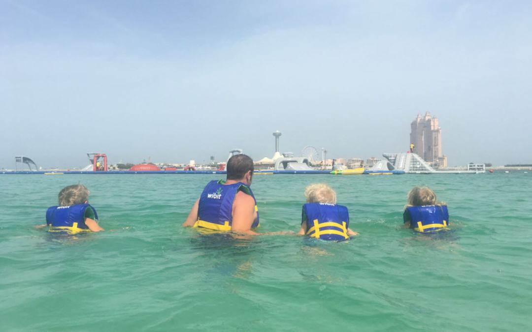 Aqua Fun on the Abu Dhabi Corniche, part of A'l Bahar