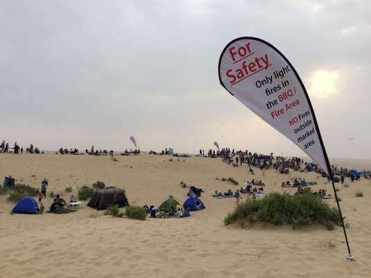 Safety warnings to keep the event organised at Carols in the desert