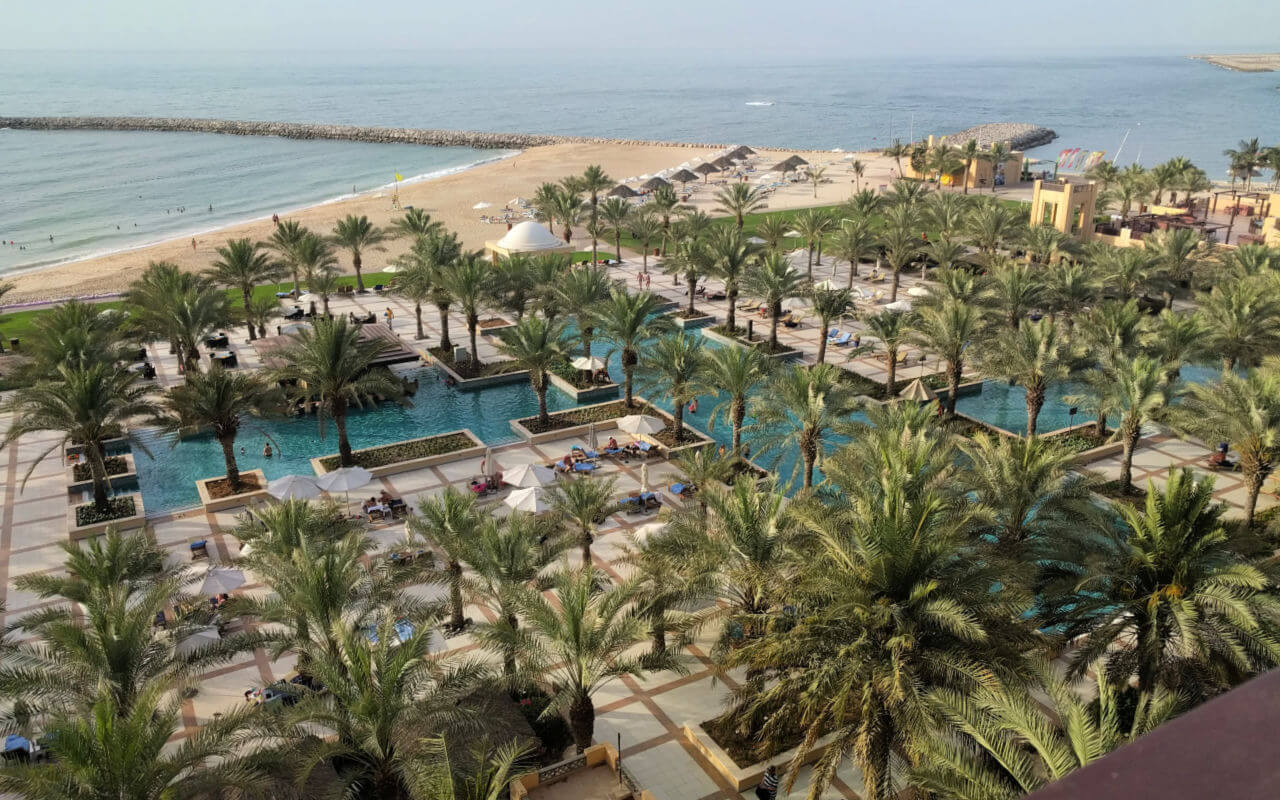 Hilton Ras Al Khaimah view of the pools
