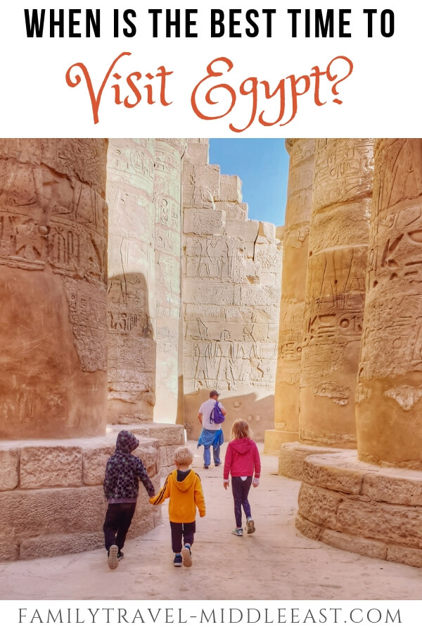 Egypt best time to visit - Kids inside Karnak Temple