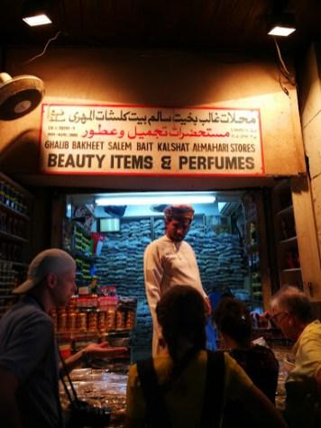 Al Muttrah Souk Muscat selling perfumes