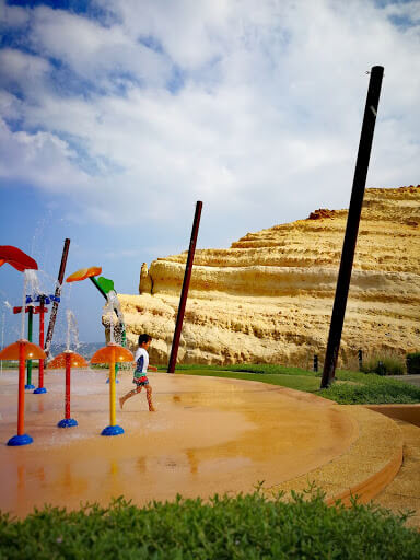 Aquatic play at Barr Al-Jissah Resort in Muscat, Oman