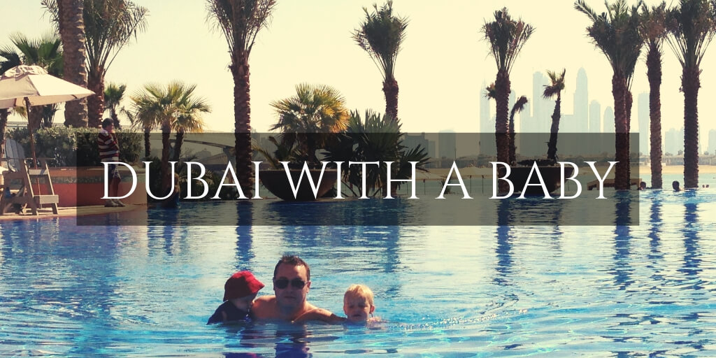 Kids swimming in resorts pool Dubai. Dubai Guide to travelling with a baby