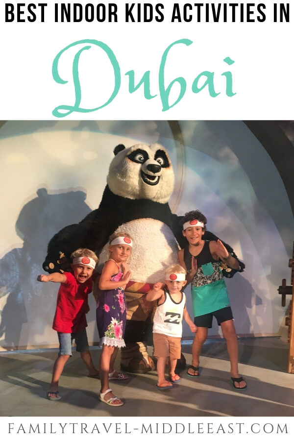 Kids with Kung Fu Panda at Motiongate Dubai