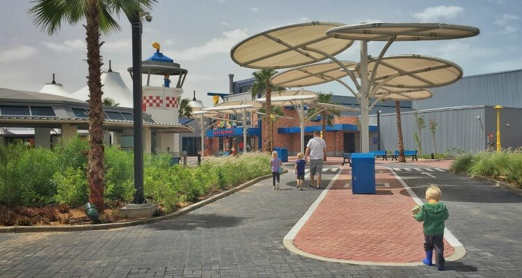 outdoor areas at Legoland Dubai