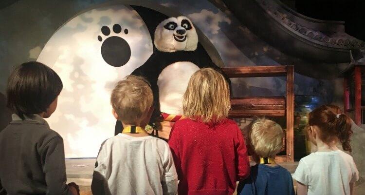 Kung Fu Panda show at Motiongate