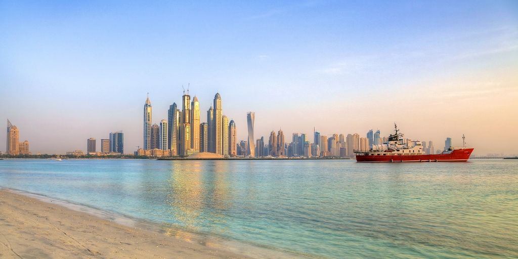view of JBr from the Palm Dubai