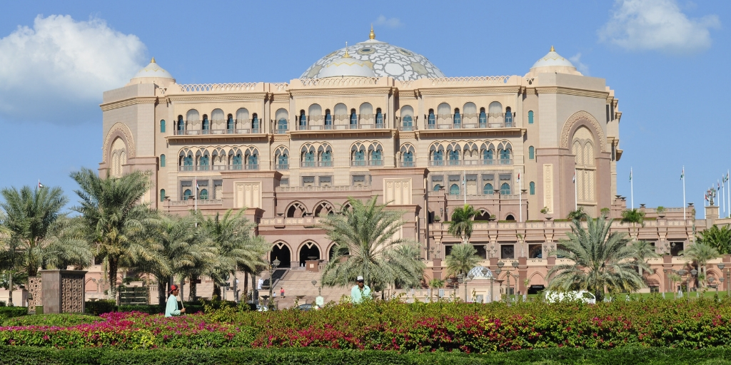 Emirates Palace a prestigous hotel in Abu Dhabi
