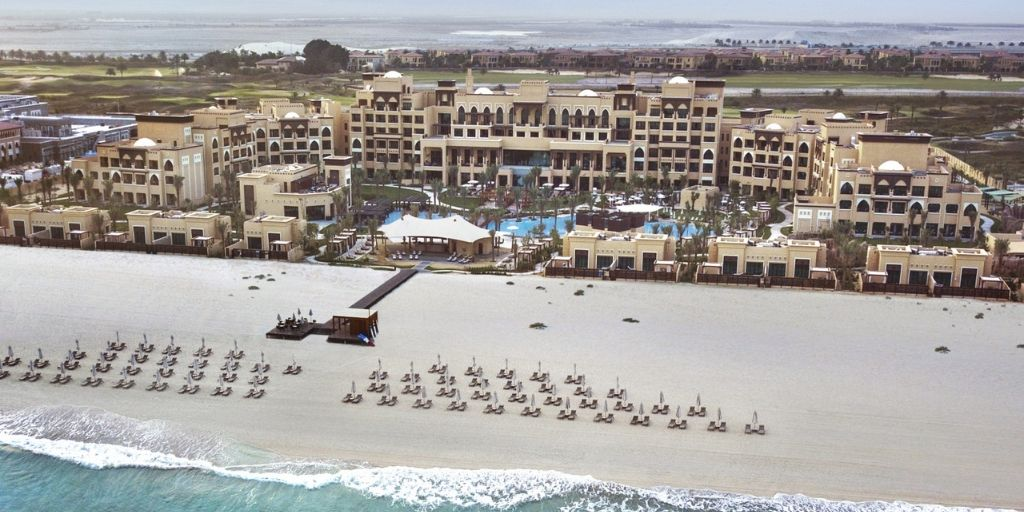 Saadiyat Rotana Resort aeril virew from the beach