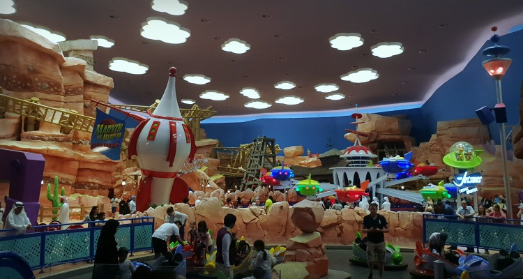 Inside Warenr Bros World Abu Dhabi