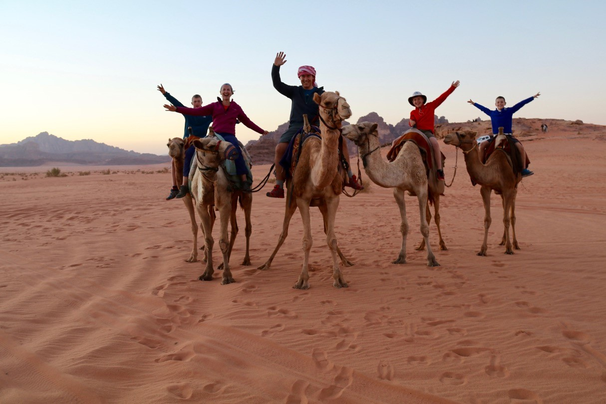 Nicky and family from Go Live Young Wadi Rum desert