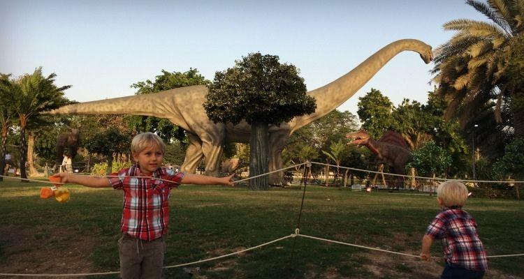 Dinosaur Park at Dubai Garden Glow