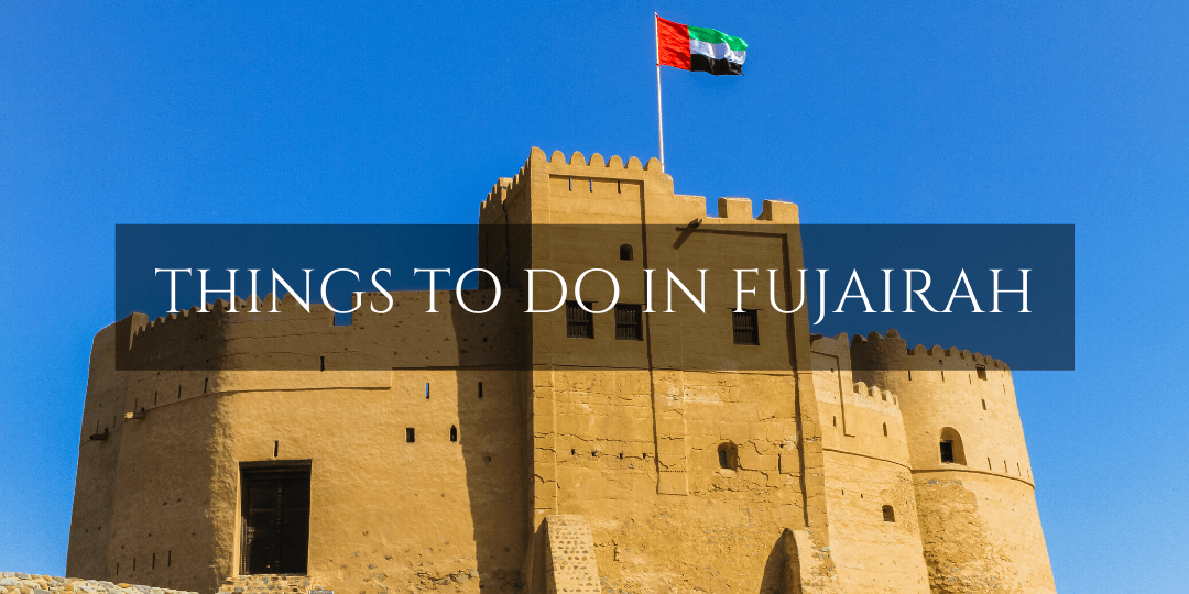 Things to do in Fujairah - Fujairah Fort with UAE flag