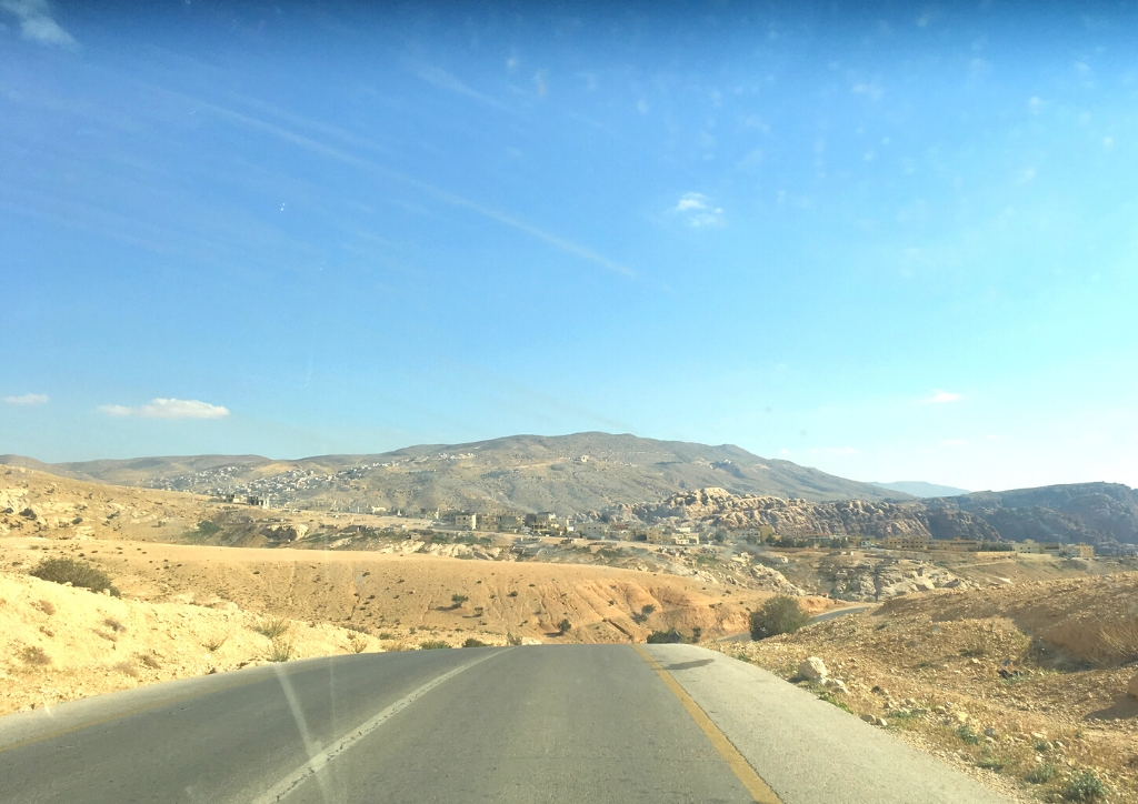 The road between Little Petra and Wadi Musa