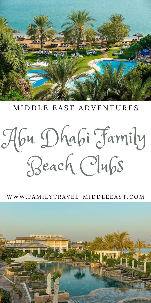 Abu Dhabi's Best Family Beach Clubs