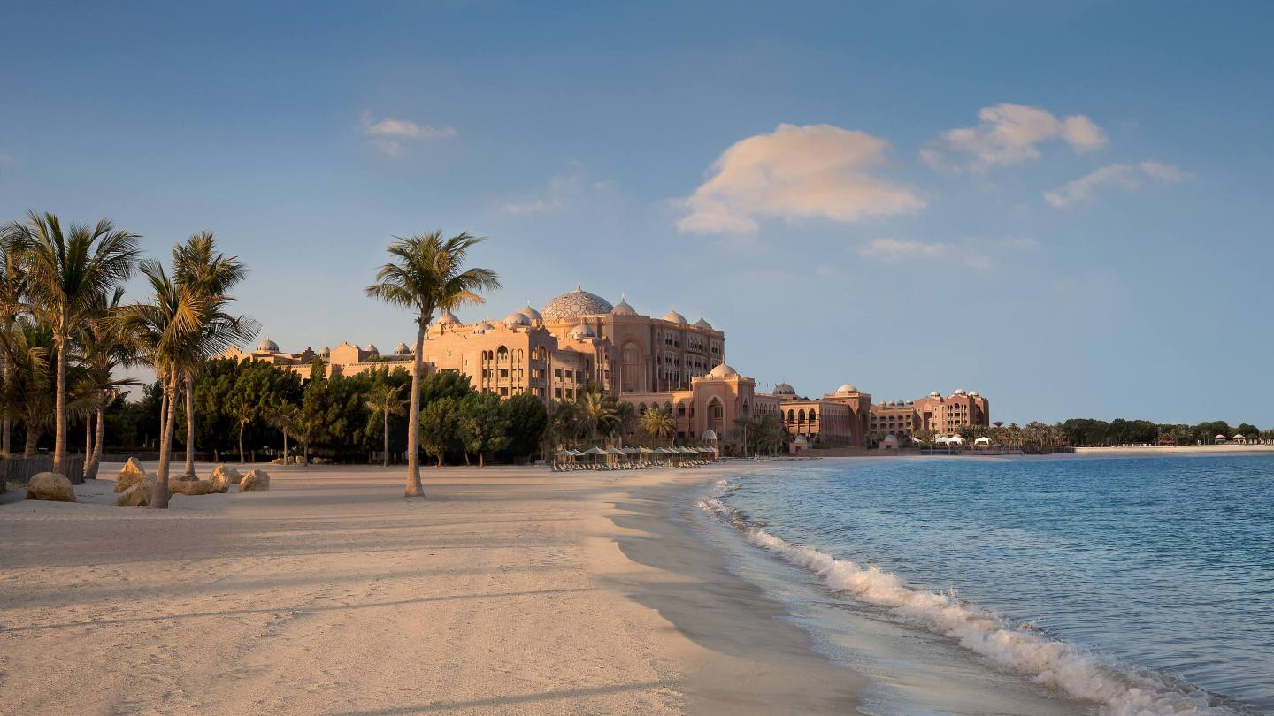 Emirates Palace beach frontage in ABu Dhabi