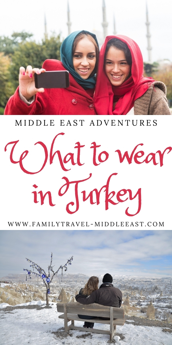 What to wear in Turkey, girls in Instanbul with headscarf and couple in cappadocia