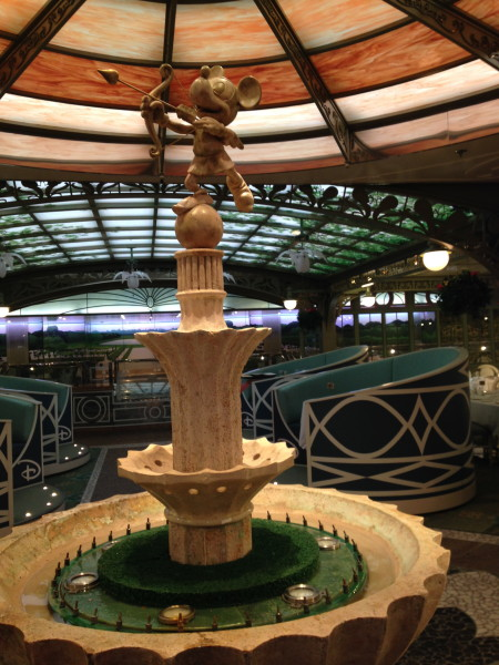 Enchanted Garden restaurant on the disney dream