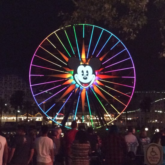 The nighttime show at Disney's California Adventure