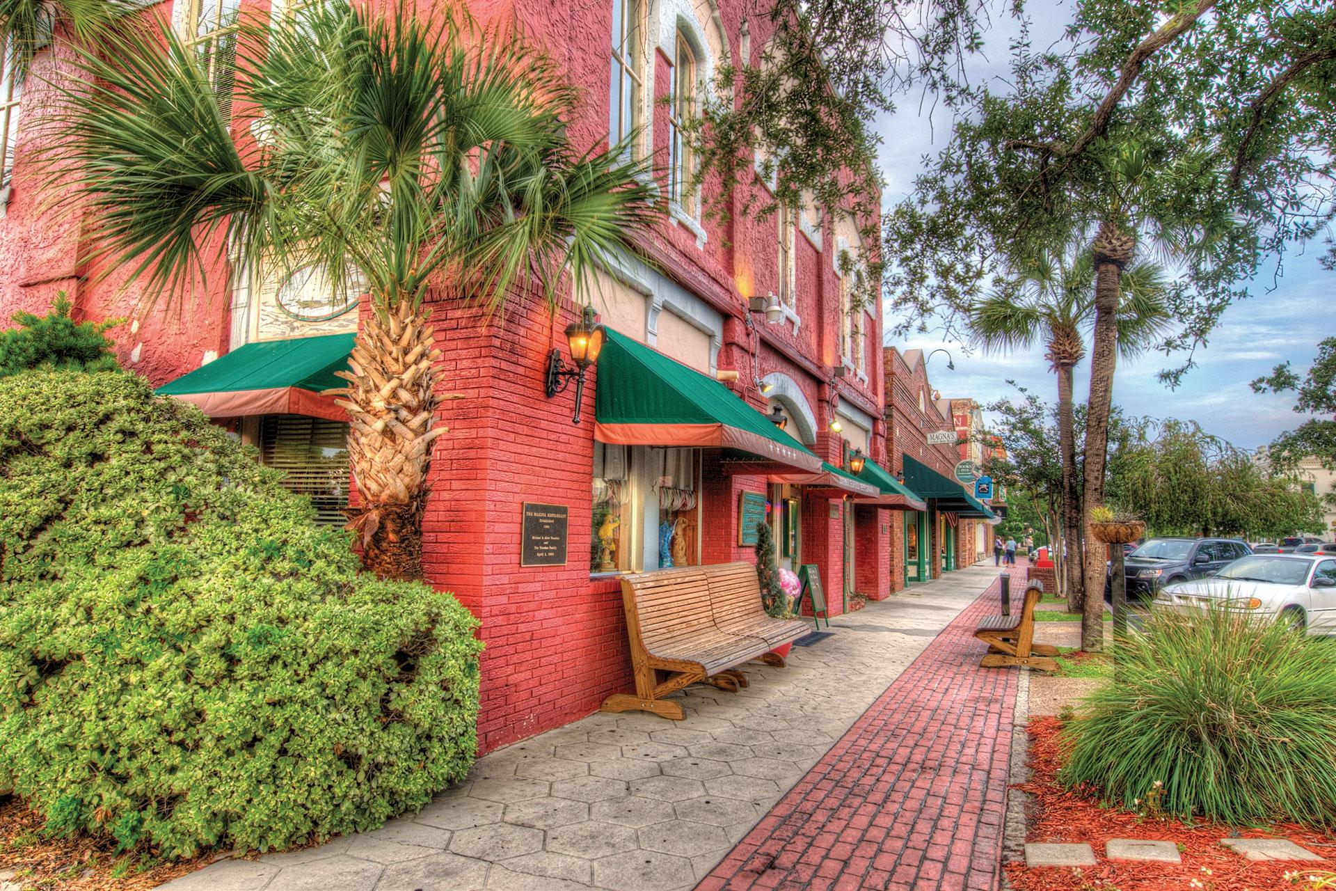 Downtown Amelia Island; Courtesy of Amelia Island Convention and Visitors Bureau