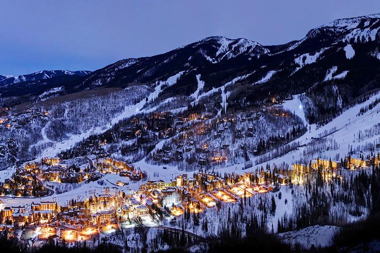 Aspen Snowmass at night; Courtesy of Aspen Snowmass