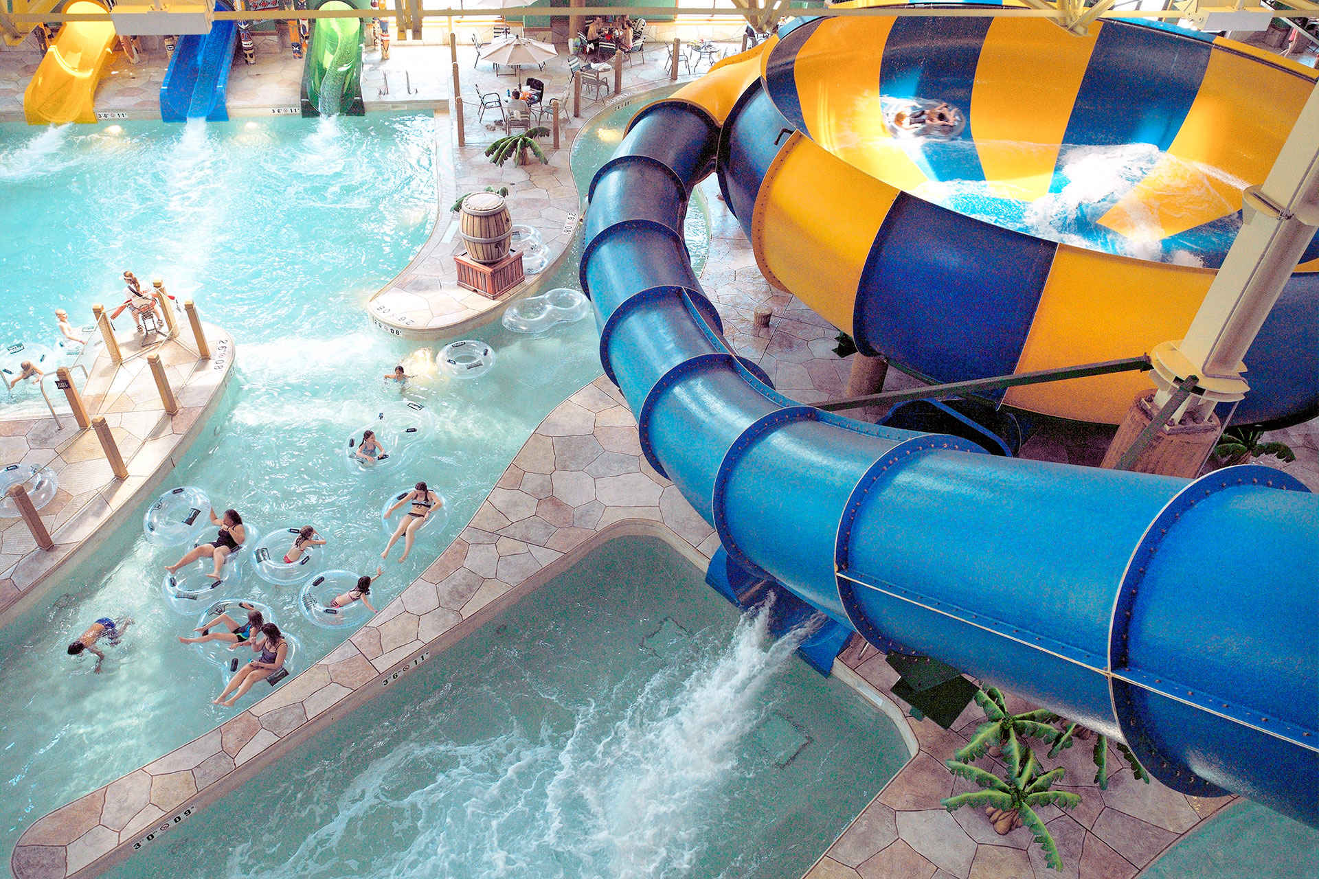 pool slide at Great Wolf Lodge; Courtesy of Great Wolf Lodge