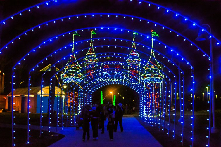 Festival of Lights at Moody Gardens in Texas