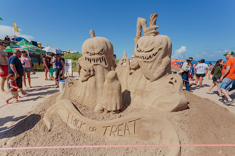 Sand Castle Days in South Padre Island, Texas