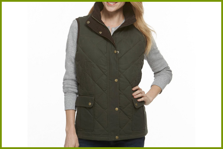 L.L. Bean Upcountry Waxed Cotton Down Vest; Courtesy of L.L. Bean