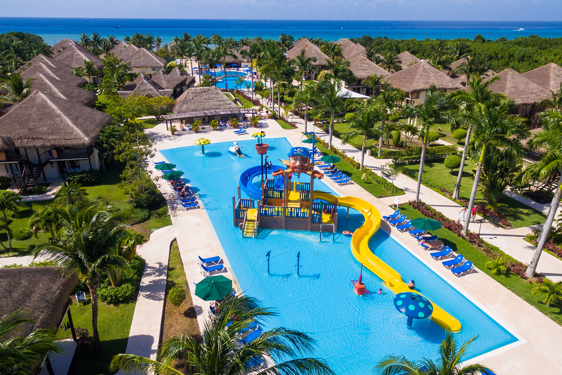 Aerial View of Pools at Allegro Cozumel; Courtesy of Allegro Cozumel